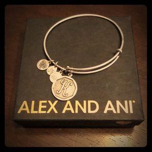 Alex and Ani Brand New K initial bracelet